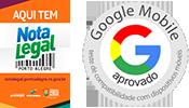 Trabalhamos com nota fiscal e aprovação do selo Google para sites Mobile